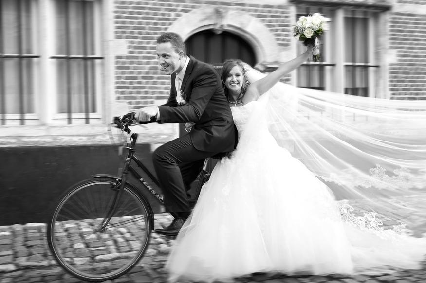 Spontane huwelijksfoto's